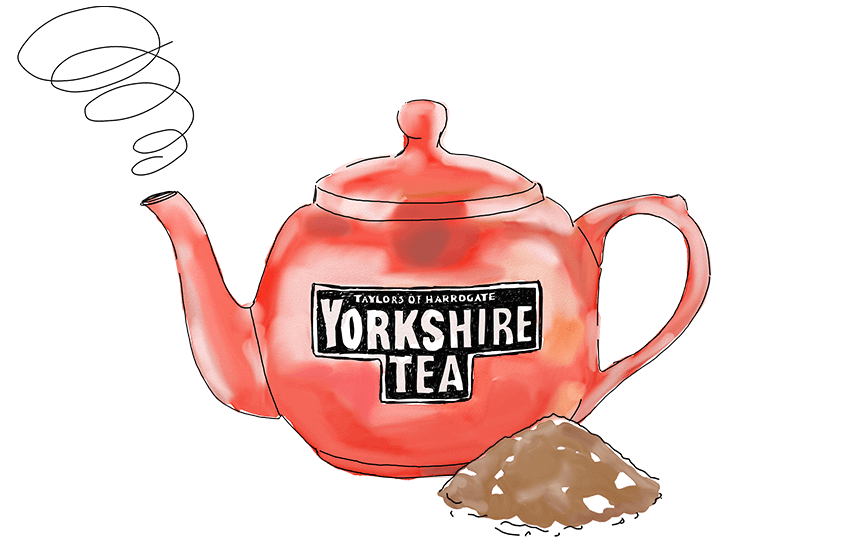 Illustration of the Yorkshire Tea teapot